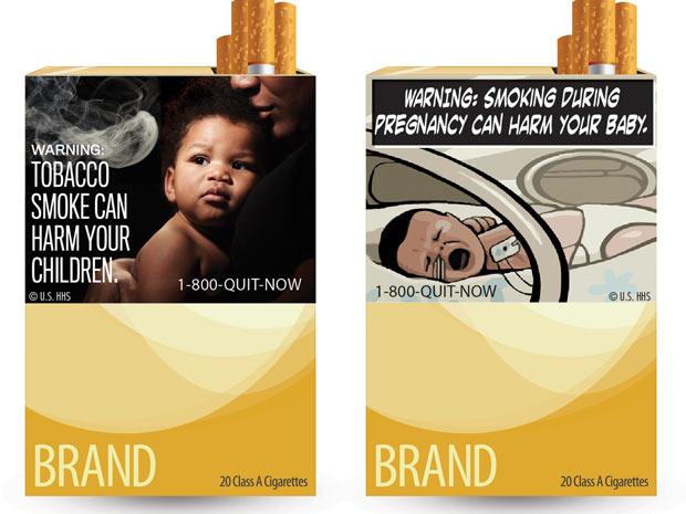 Novas imagens para maços de Cigarros
