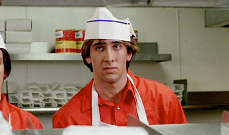 "Nicolas Cage em ""Fast Times At Ridgemont High"""