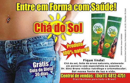 Chá do Sol - 500 x 319 - Anúncio do cha do sol na revista tititi