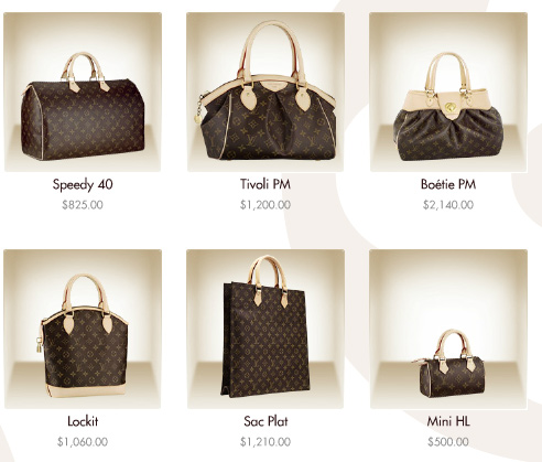 bolsas louis vuitton - preços