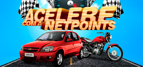 PROMOÇÃO ACELERE COM A NETPOINTS - WWW.NETPOINTS.COM.BR