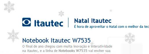 PROMOÇÃO NATAL ITAUTEC - WWW.NATALITAUTEC.COM.BR
