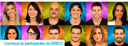 PARTICIPANTES BBB12 - LISTA DOS PARTICIPANTES DO BIG BROTHER BRASIL 2012