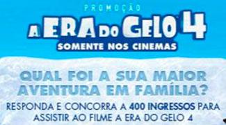 WWW.EXTRA.COM.BR/MARCASRECOMENDADAS - PROMOÇÃO AVENTURA EM FAMÍLIA - A ERA DO GELO 4