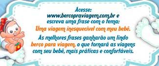 WWW.BERCOPRAVIAGEM.COM.BR - PROMOÇÃO VIAJAR COM SEU BEBÊ FICOU MAIS CONFORTÁVEL